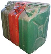 Jerrycans.
