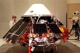 Mars Polar Lander undergoes testing.jpg