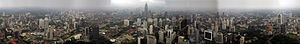 Panorama image of view from Menara Kuala Lumpur