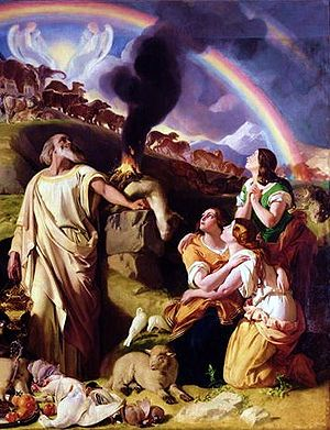 English: Noah's sacrifice