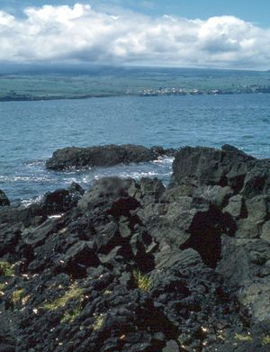 Rocky beach, Hilo, Hawaii