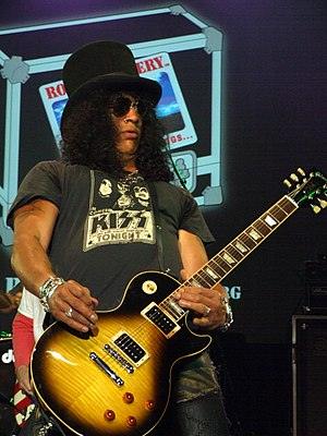 Slash playing a show with Velvet Revolver