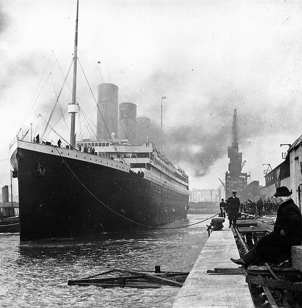 Titanic docked at Southampton