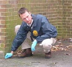 US Army CID crime scene investigator