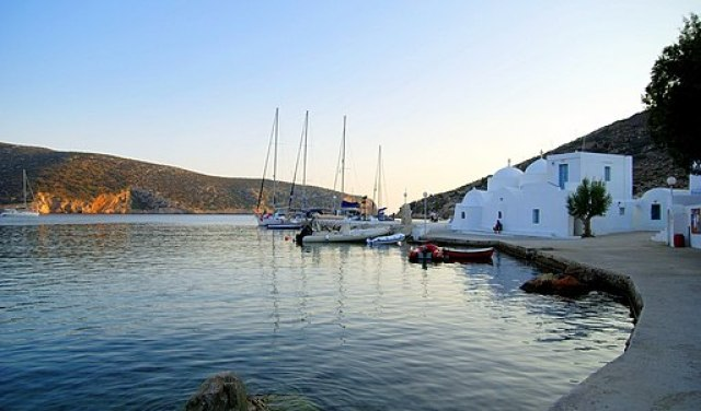 Vathy harbour Greek island of Sifnos