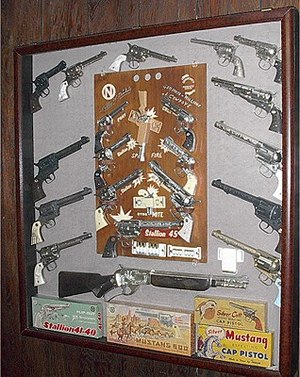 A typical cap gun display. http://www.nicholsc...