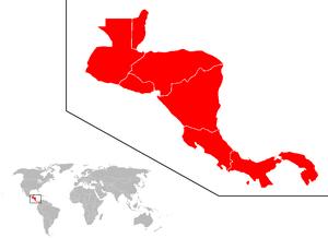 Ubicación del subcontinente centroamericano en...