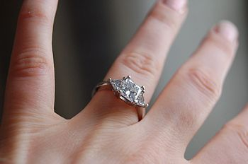 First engagement ring - 1.51ct princess cut di...