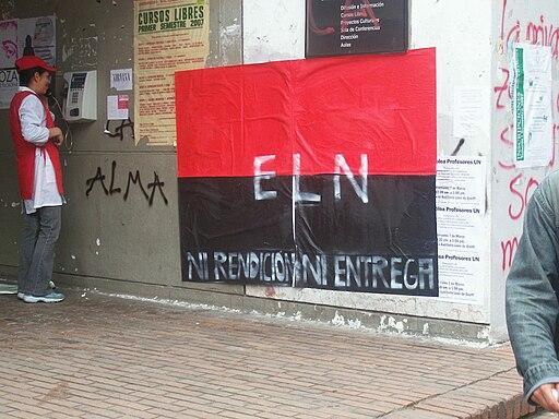 ELN guerrilla poster