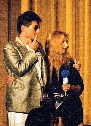 Falco und Ursela Monn, 1986 bei der Filmpremie...