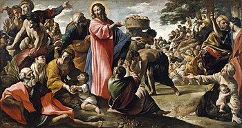 Giovanni Lanfranco - Miracle of the Bread and ...