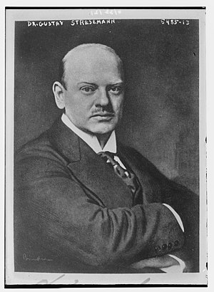 German Chancellor Gustav Stresemann (1878-1929)