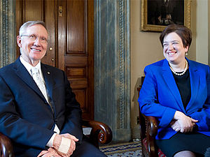 Senate Majority Leader Harry Reid (D-NV) meeti...