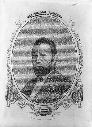 English: 1868 Republican campaign poster, crea...