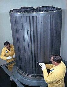 Graphite core of the ORNL molten salt reactor