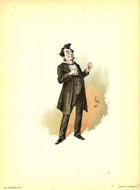 Mr Pecksniff 1889 Dickens Martin Chuzzlewit character by Kyd (Joseph Clayton Clarke)