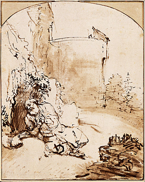 File:Rembrandt Harmenszoon van Rijn - The Prophet Jonah before the Walls of Nineveh, c. 1655 - Google Art Project.jpg