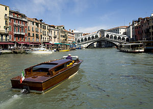 The Rialto Bridge over Venice's Grand Canal.