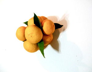 Ripe sudachi fruits