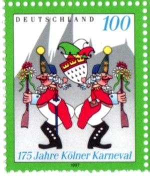 Stippeföttche, Karneval-Tanz, Briefmarke herau...