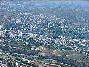 Aerial photograph of Nogales, Ariz. (lower lef...