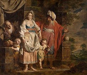 Hagar and Ishmael Banished by Abraham (1781 pa...