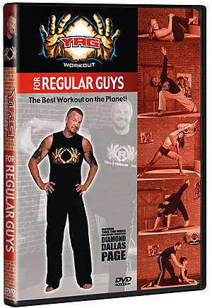 A copy of the Yoga for Regular Guys DVD by Dia...