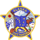 Patch of the Alaska State Troopers. Via Wikipedia