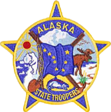 English: Image of an Alaska State Trooper patc...