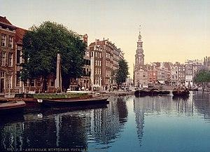 The Singel in Amsterdam, the Netherlands viewe...