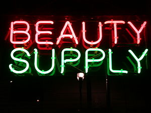 """Neon Sign """"Beauty Supply"""", New Jerse..."""