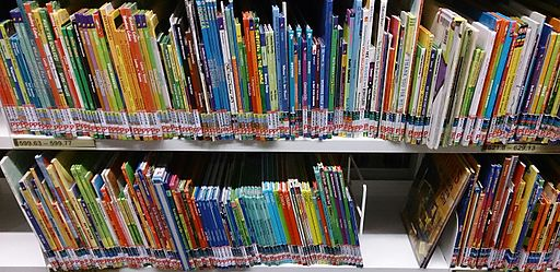 Childrens' books at a library
