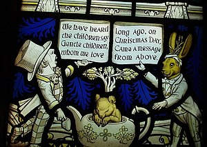 Detail of Lewis Carroll memorial window This i...