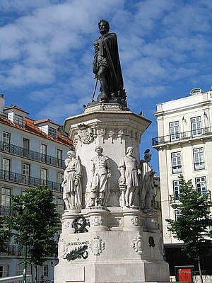 English: Statue of Luís de Camões, Lisbon, Por...