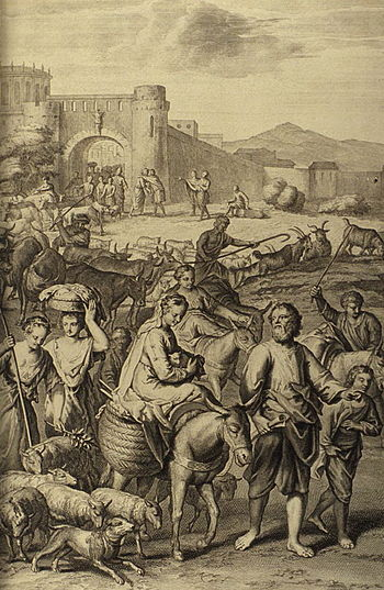 Abram and Lot Depart Out of Haran (illustratio...