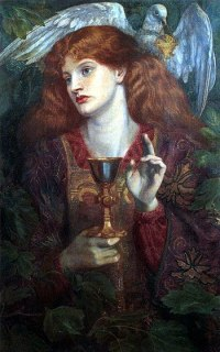 The Damsel of the Sanct Grael, by Dante Gabrie...