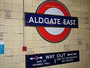 London Tube Aldgate East