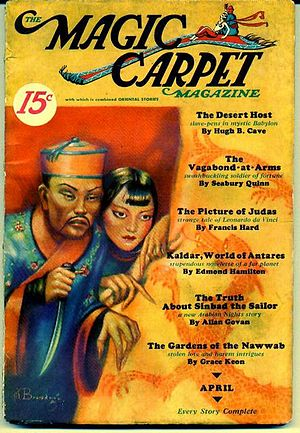 English: Cover of the pulp magazine Magic Carp...