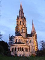Parte trasera de la catedral, santuario.