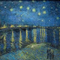"""Starry Night Over the Rhône"" by Vincent van Gogh"