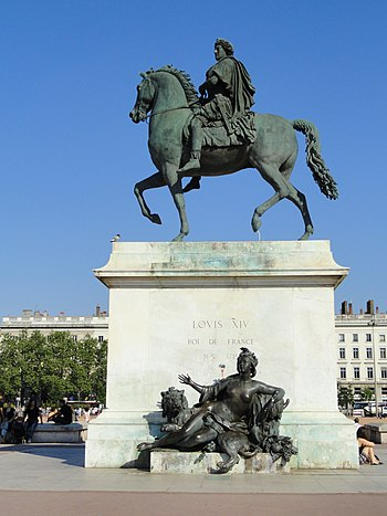 Statue of Louis XIV, Place Bellecour, Lyon, Fr...