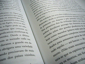 Page of a book in portuguese.
