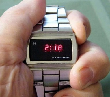 Vintage Hamilton Men's LED Silvertone Watch, Circa 1970s (9629743731)