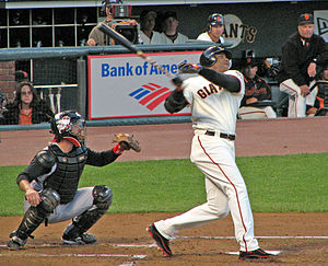 Barry Bonds in action.