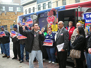 AFL CIO protest of Rite Aid 2009