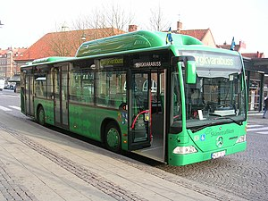 Skånetrafiken bus in Lund.