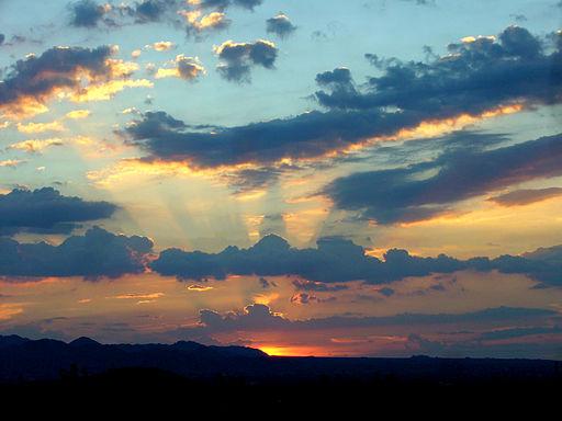 Burning Yellow Sunset
