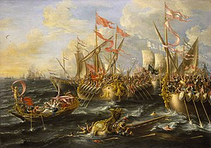 English: The Battle of Actium, 2 September 31 ...