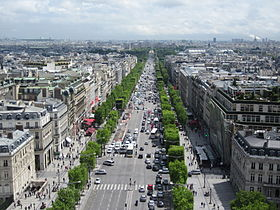 The Champs Elysees Seen From The Arc De Triomphe