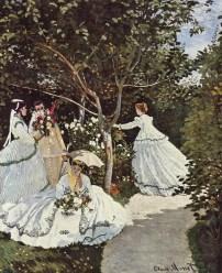 Resultado de imagen de mujeres en el jardin monet